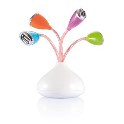 Flor USB 4 puerto con luz led